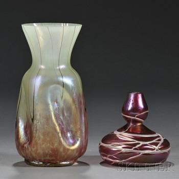 TWO PALLME-KONIG VASES - Art Glass
