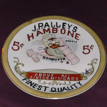 J.P. Alley's Hambone 5 cent Cigar Plate  - Advertising