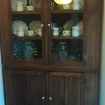 Nice Walnut Corner Cupboard