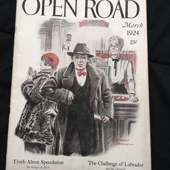 """The Open Road"" March 1924 - original magazine good condition"
