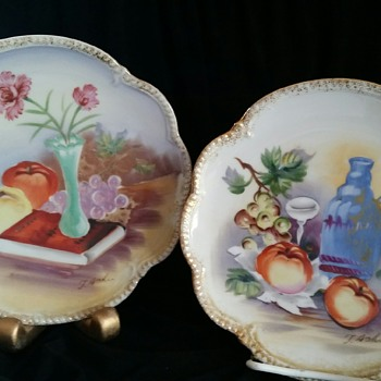 2 Vintage Ucagco signed T. Aoki Plates  - China and Dinnerware