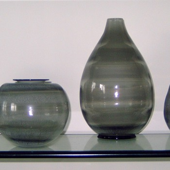 4 ''Serica'' vases by Copier (1931) - Art Glass