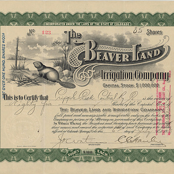 Beaver Land and Irrigation Company - One of my favorite vignettes!