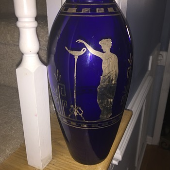 Czech cobalt blue vase - Art Glass