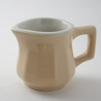 Hall Individual Creamer….Beige Fluted Sides….