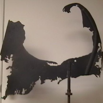 Antique Weathervane ( Shaped Like Cape Cod, Mass. ) - Folk Art