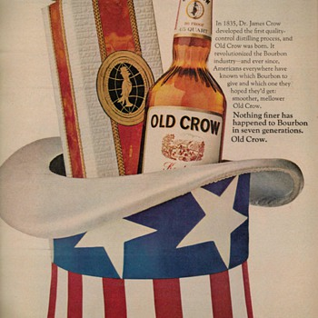 1969 - Old Crow Bourbon Advertisement - Advertising