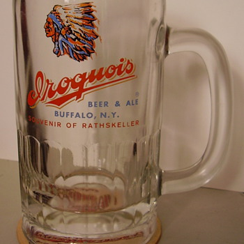 Two Iroquois Beer Glasses