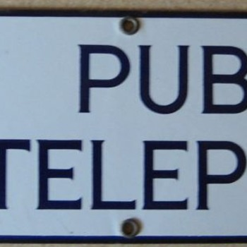 Michigan associated sign - Telephones