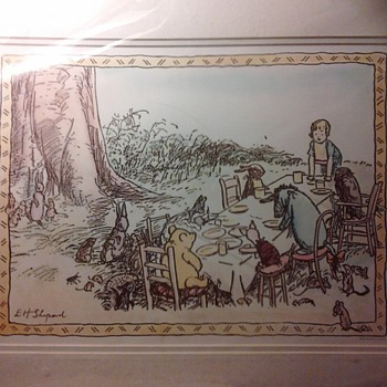 E.H Shepard vintage drawing &quot;pooh bear&quot; - Posters and Prints