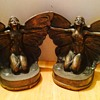 Art Deco Butterfly Girl Bookends