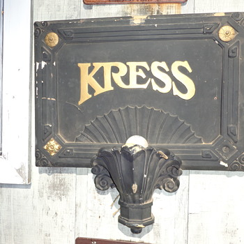 S.H. KRESS SIGN SCONCE