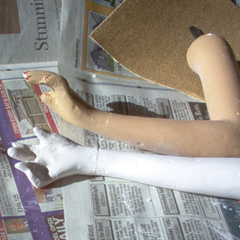 Counter-top  Mannequin Restoration - arms coming along - Dolls