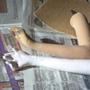 Counter-top  Mannequin Restoration - arms coming along