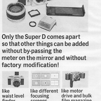 1969 - Beseler 35mm Camera Advertisement