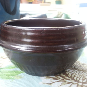 """KS"" SIGN POTTERY BOWL"