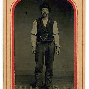 1880s Tintype - Saloon Bartender? - Photographs