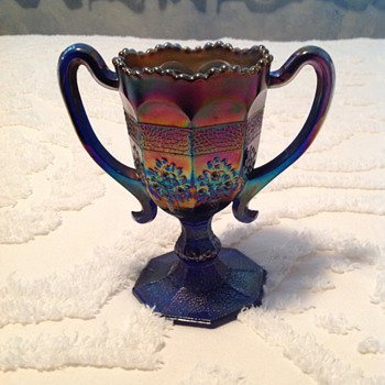 Carnival Glass Loving Cup - Glassware