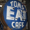 "Vintage 1950's TOMS ""EAT"" CAFE Antique Neon Sign Two Sided"