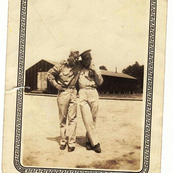 My Dad and one of his buddies in WWII - Photographs