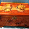 Old Wooden Jewelry Box, Dove Tailed