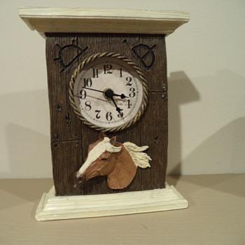 Clock - Horse & Brand