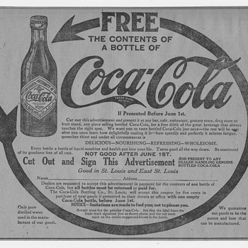 1912 Coca-Cola Newspaper Ads for Free Coca-Cola