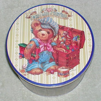 Christmas Tin - Teddy Bear - Christmas