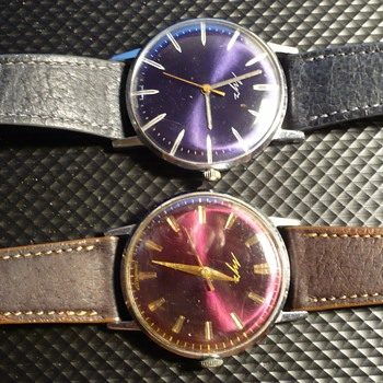 Two more 1970s Soviet Luch Dress Watches With 2209 Movements - Wristwatches