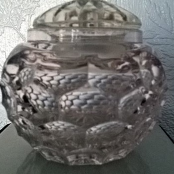 Bubbly Glass Pot :) antique crystal !
