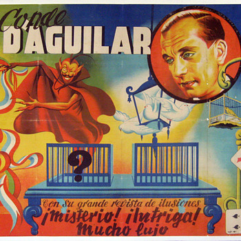 Original &quot;Conde D&#039;Aguilar Stone Lithograph Poster