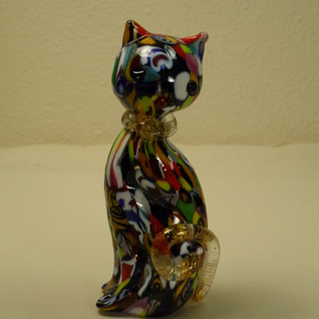 Murano Multi Color, Aventurine Cat