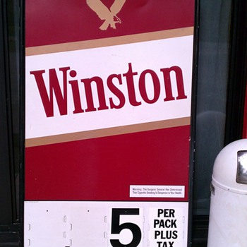 Winston Cigarette sign