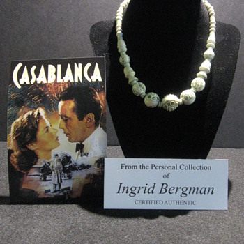 Ingrid Bergman  .  .  .  Personal Necklace