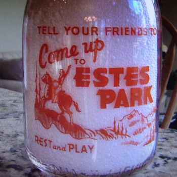 Estes Park Creamery Quart Milk Bottle.........