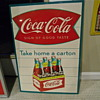 Early 1960s Sidewalk Six Pack &quot;Take Home A Carton&quot; Sign