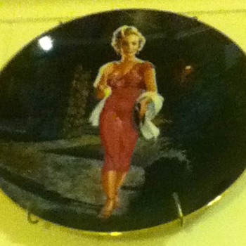 Marilyn Monroe Plate - Movies