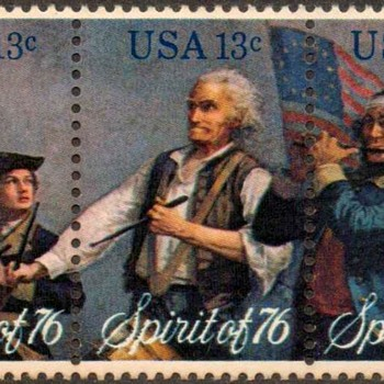 "1976 - ""Spirit of '76"" Postage Stamps (US)"