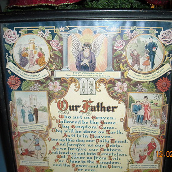Lords Prayer and The Ten Commandments