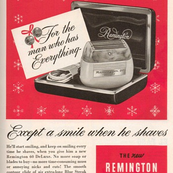 1952 - Remington 60 Electric Shaver Advertisement - Advertising