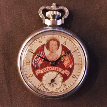 Queen Eizabeth II Coronation Pocket Watch, Variant 1 - Pocket Watches
