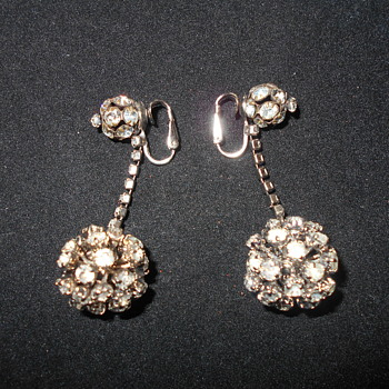 Vogue Jlry. rhinestone dangle earrings - Costume Jewelry
