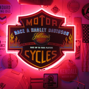 Vintage Harley Davidson Neon Sign