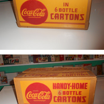 Another Coca-Cola Cardboard Case arrived today; a rare one!