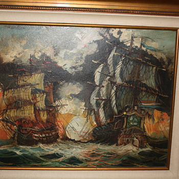 War Ships painting by Vasselli - Visual Art