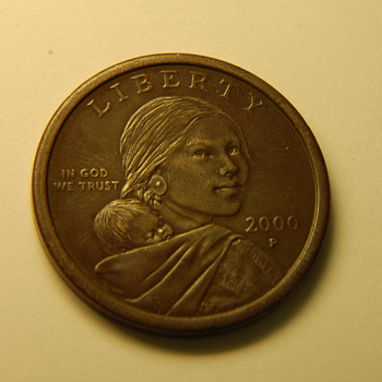2000-P Sacagawea Experimental Rinse Dollar  - US Coins