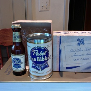 Pabst Blue Ribbon advertising items