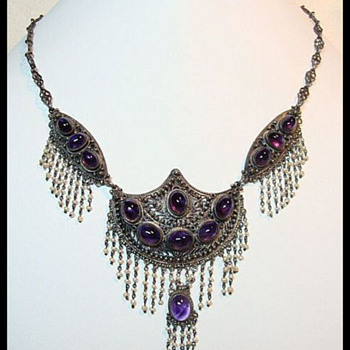 Antique Festoon Amethyst Necklace - Fine Jewelry