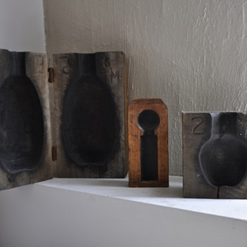 Old Wooden Block  Bottle Molds