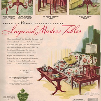 1950 Imperial Furniture Advertisement - Advertising